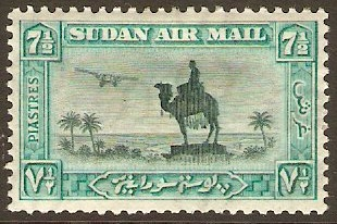 Sudan 1931 7�p Green and emerald. SG57c.