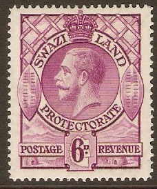 Swaziland 1933 6d bright purple. SG16.