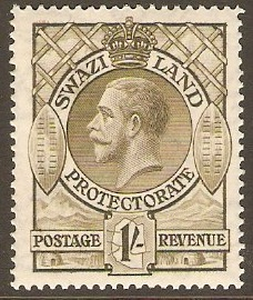 Swaziland 1933 1s olive. SG17.