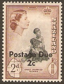 Swaziland 1961 2c on 2d. SGD11.