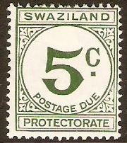 Swaziland 1961 5c green - Postage Due Stamp. SGD6.