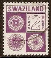 Swaziland 1971 2c Purple - Postage Due Stamp. SGD23.