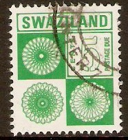 Swaziland 1971 5c Green - Postage Due Stamp. SGD24.