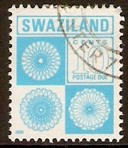 Swaziland 1971 10c Blue - Postage Due Stamp. SGD25.