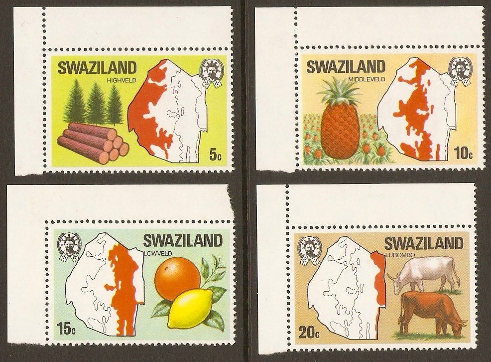Swaziland 1977 Maps Set. SG280-SG283.