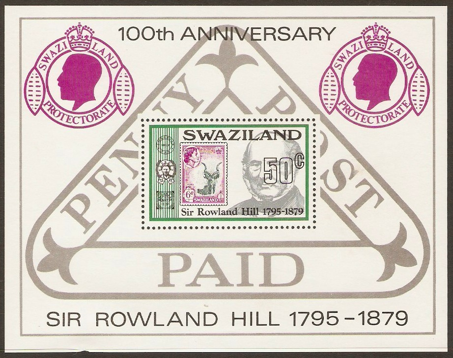 Swaziland 1979 Rowland Hill Commemoration Sheet. SGMS326.