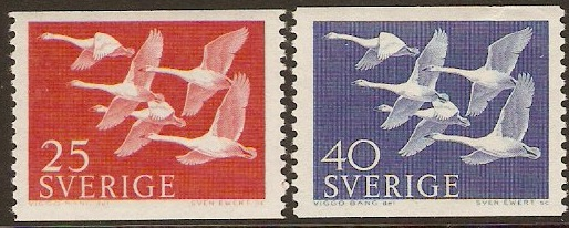 Sweden 1956 Northern Countries Stamps. SG376-SG377.