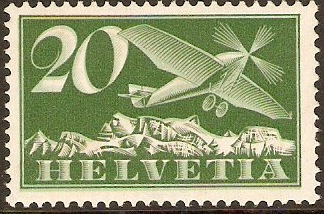 Switzerland 1923 20c Green and deep green. SG317.