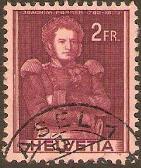 Switzerland 1941 2f brown-lake on pink. SG413.