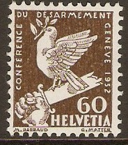 Switzerland 1932 60c Bistre-brown. SG342.