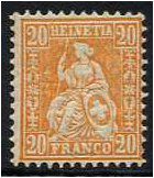 Switzerland 1881 20c. Brown-Orange. SG109.