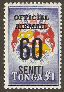 Tonga 1967 60s on £1 Official Airmail Series. SGO23.