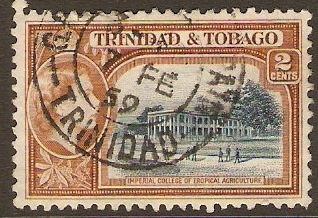 Trinidad & Tobago 1953 2c Indigo and orange-brown. SG268.