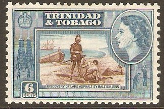 Trinidad & Tobago 1953 6c Brown and greenish-blue. SG272.