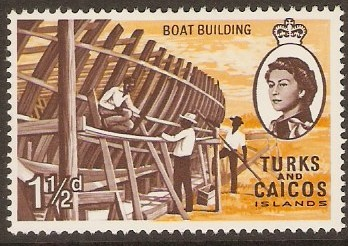 Turks and Caicos 1967 1½d Boat Building Stamp. SG275.