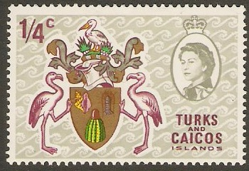 Turks and Caicos 1969 ¼c Arms of Turks and Caicos. SG297.