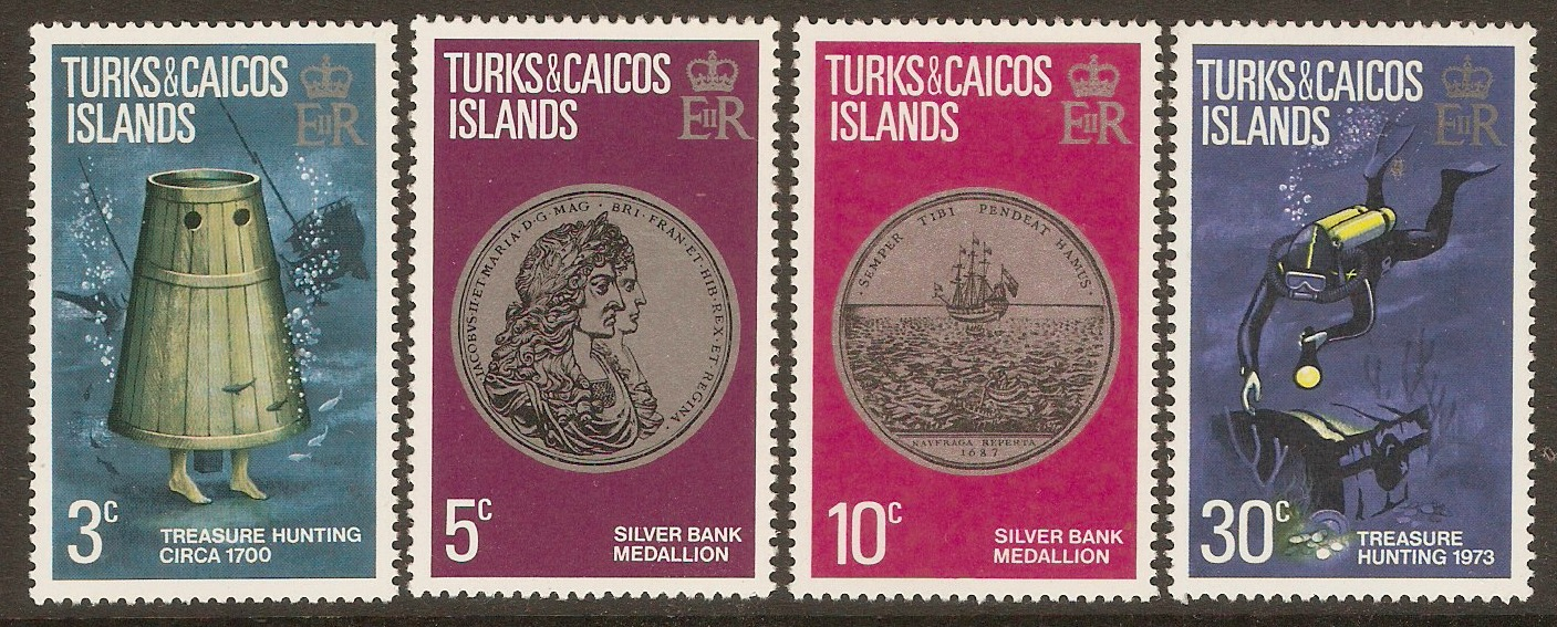 Turks and Caicos 1973 Treasure set. SG374-SG377.
