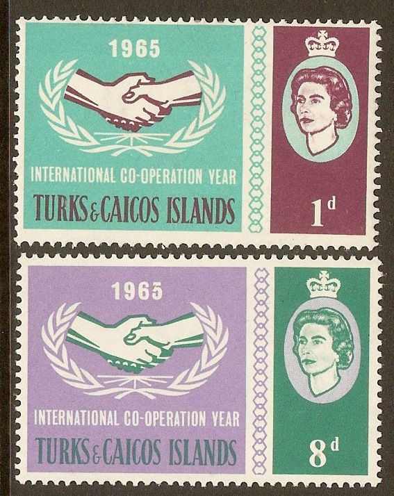 Turks and Caicos 1965 Int. Cooperation Year set. SG260-SG261.