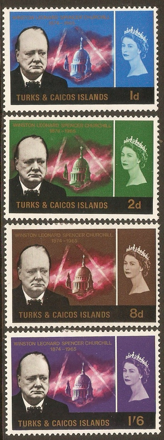 Turks and Caicos 1966 Churchill Commemoration set. SG262-SG265.