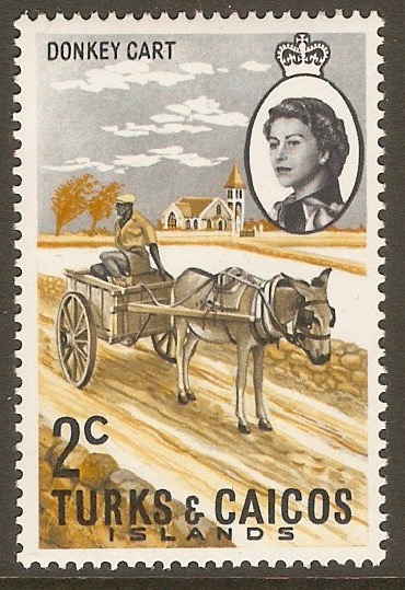 Turks and Caicos 1971 2c Donkey Stamp. SG334.
