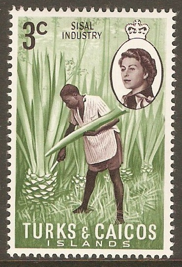 Turks and Caicos 1971 3c Sisal Industry Stamp. SG335.