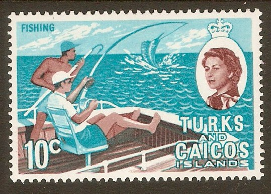 Turks and Caicos 1971 10c Fishing Stamp. SG340.