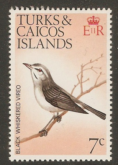 Turks and Caicos 1973 7c Birds Series. SG387.