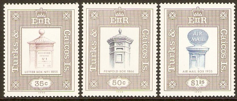 Turks and Caicos 1990 British Pillar Boxes Set. SG1041-SG1043.