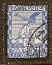 Yugoslavia 1934 3d Ultramarine and black border. SG305.