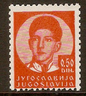 Yugoslavia 1935 50p Bright orange. SG321.