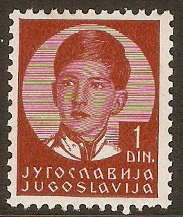 Yugoslavia 1935 1d Red-brown. SG323.