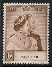 Zanzibar 1949 Royal Silver Wedding Stamp. SG334.